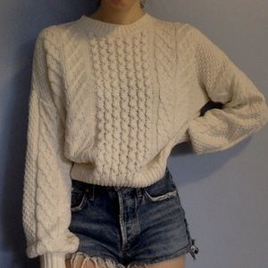 Vintage inspired cable knit sweater